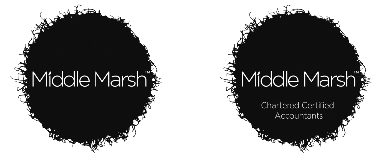 Middle Marsh chartered accountant branding by Type Design
