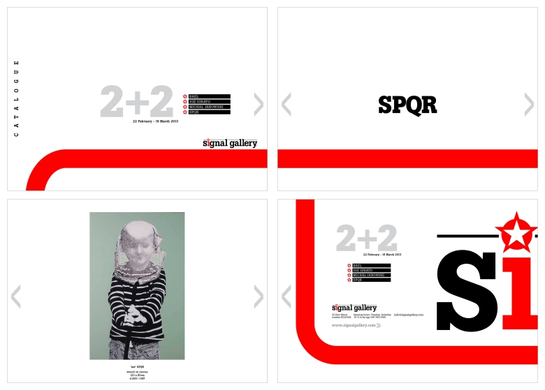 Signal Gallery digital catalogue designed by Type Design