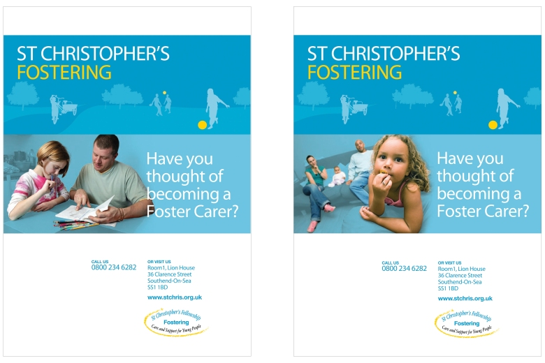 St Christopher's fostering large-format display ads by Type Design